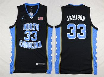 Men's North Carolina Tar Heels #33 Antawn Jamison 2016 Black Swingman College Basketball Jersey