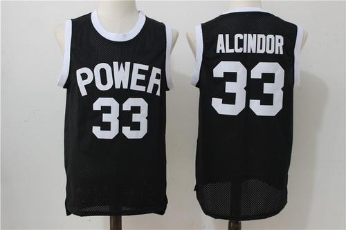 Men's Power Memorial Academy High School #33 Alcindor Kareem Abdul-Jabbar Black Swingman Nike Baseketball Jersey