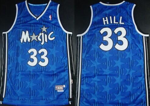 Orlando Magic #33 Grant Hill Blue All-Star Hardwood Classics Soul Swingman Throwback Jersey