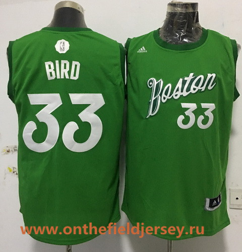 Men's Boston Celtics #33 Larry Bird adidas Green 2016 Christmas Day Stitched NBA Swingman Jersey