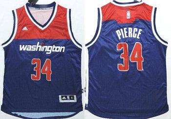 Men's Washington Wizards #34 Paul Pierce Revolution 30 Swingman 2014 New Navy Blue Jersey
