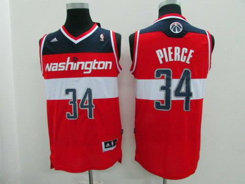 Men's Washington Wizards #34 Paul Pierce Revolution 30 Swingman Red Jersey
