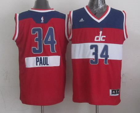 Men's Washington Wizards #34 Paul Pierce Revolution 30 Swingman 2014 Christmas Day Red Jersey
