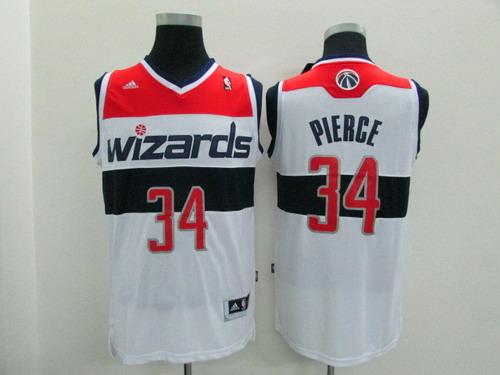 Men's Washington Wizards #34 Paul Pierce Revolution 30 Swingman White Jersey