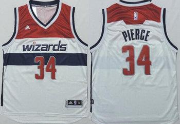 Men's Washington Wizards #34 Paul Pierce Revolution 30 Swingman 2014 New White Jersey