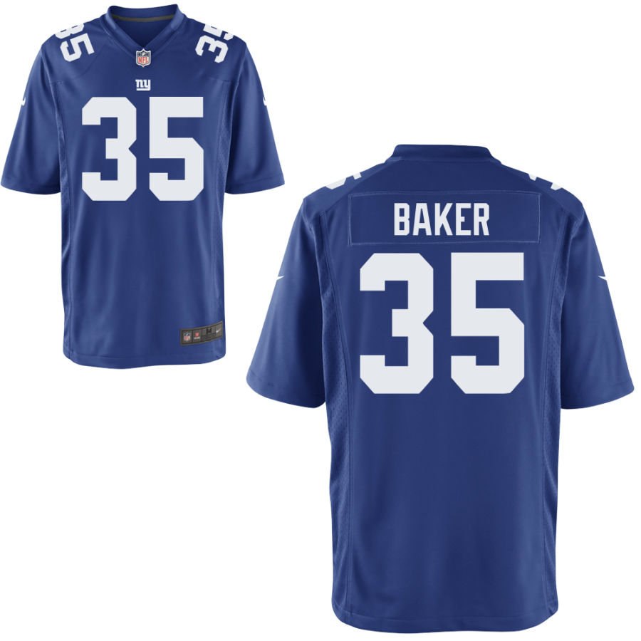 Men's New York Giants #35 Deandre Baker Blue Vapor Untouchable Stitched NFL Nike Limited Jersey