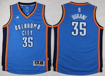 Youth Oklahoma City Thunder #35 Kevin Durant Light Blue Jersey