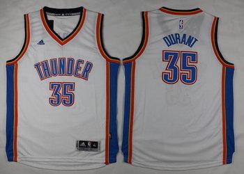 Youth Oklahoma City Thunder #35 Kevin Durant White Jersey