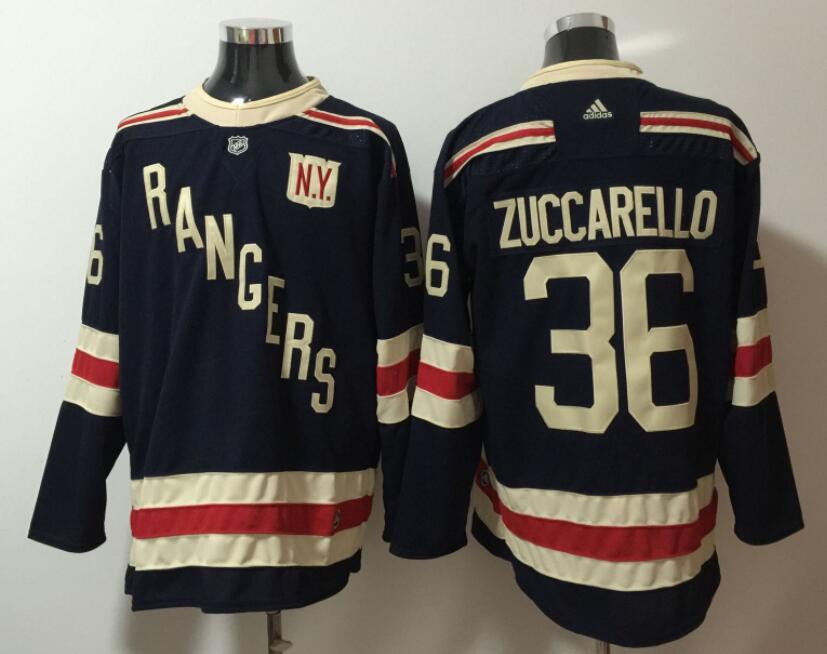 Men's New York Rangers #36 Mats Zuccarello adidas Navy Blue 2018 Winter Classic Jersey
