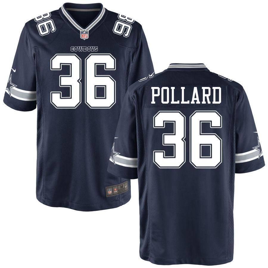Men's Dallas Cowboys #36 Tony Pollard Navy Blue Stitched NFL Nike Game Jersey