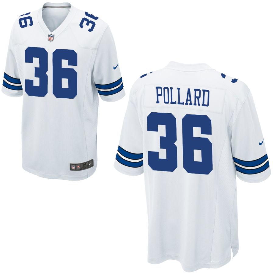 Men's Dallas Cowboys #36 Tony Pollard White Stitched NFL Nike Game Jersey