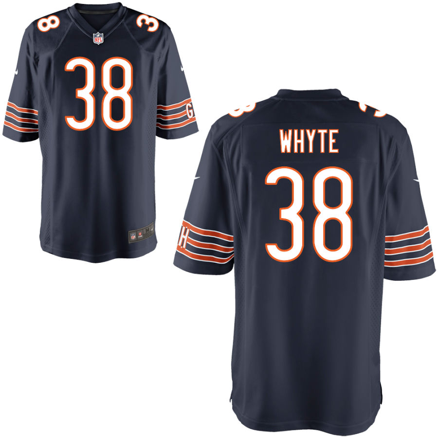 Men's Chicago Bears 38 Kerrith Whyte Jr. Navy Blue Game Jersey