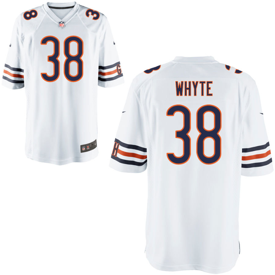 Men's Chicago Bears 38 Kerrith Whyte Jr. White Game Jersey