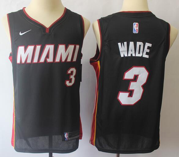 Men's Miami Heat #3 Dwyane Wade Black Nike Swingman Stitched NBA Jersey