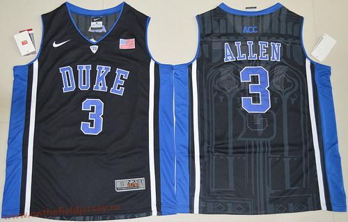 Men's Duke Blue Devils #3 Garyson Allen Black College Basketball Nike Swingman Stitched 2017 NCAA Jersey