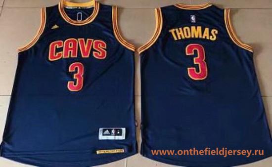 Men's Cleveland Cavaliers #3 Isaiah Thomas Navy Blue Stitched NBA adidas Revolution 30 Swingman Jersey