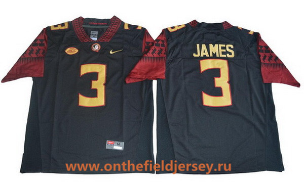 Men's Florida State Seminoles #3 Derwin James Black College Football Stitched Nike NCAA Jersey