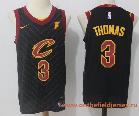Men's Cleveland Cavaliers #3 Isaiah Thomas Black 2017-2018 Nike Swingman Goodyear Stitched NBA Jersey