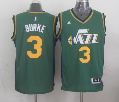 Utah Jazz #3 Trey Burke Revolution 30 Swingman New Green Swingman Jersey