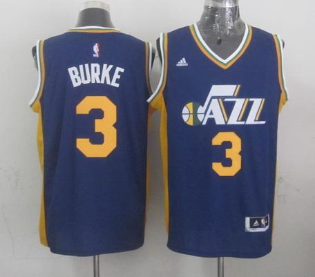 Utah Jazz #3 Trey Burke Revolution 30 Swingman New Navy Blue Swingman Jersey