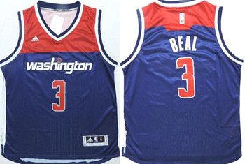 Washington Wizards #3 Bradley Beal Revolution 30 Swingman New Navy Blue Jersey