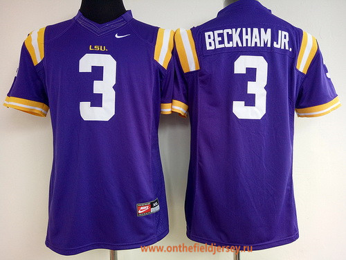 Women's LSU Tigers #3 Odell Beckham Jr. Purple Limited Stitched College Football Nike NCAA Jersey