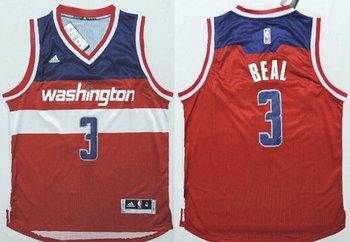 Washington Wizards #3 Bradley Beal Revolution 30 Swingman New Red Jersey