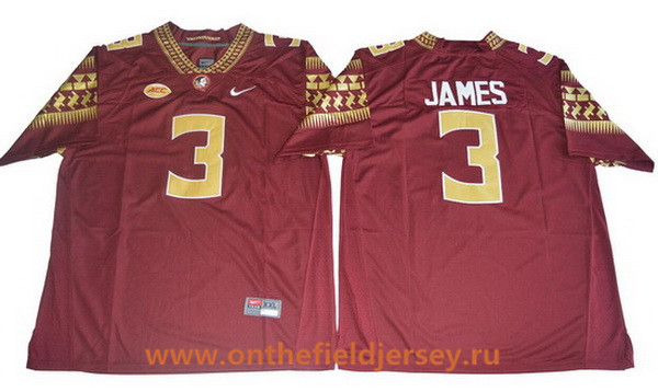 Men's Florida State Seminoles #3 Derwin James Red College Football Stitched Nike NCAA Jersey