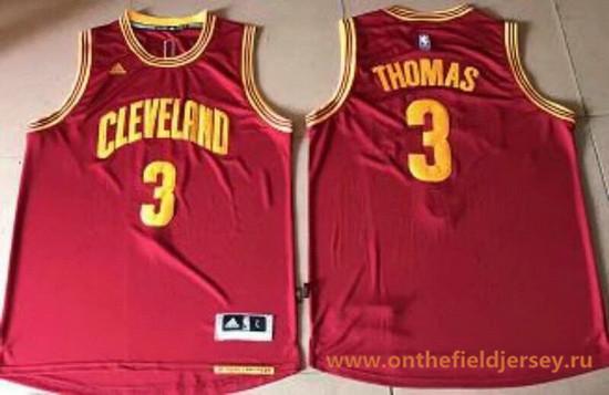 Men's Cleveland Cavaliers #3 Isaiah Thomas Red Stitched NBA adidas Revolution 30 Swingman Jersey