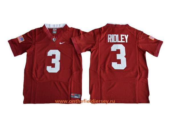 Youth Alabama Crimson Tide #3 Calvin Ridley Red 2016 Pro Combat Stitched College Football Nike NCAA Jersey