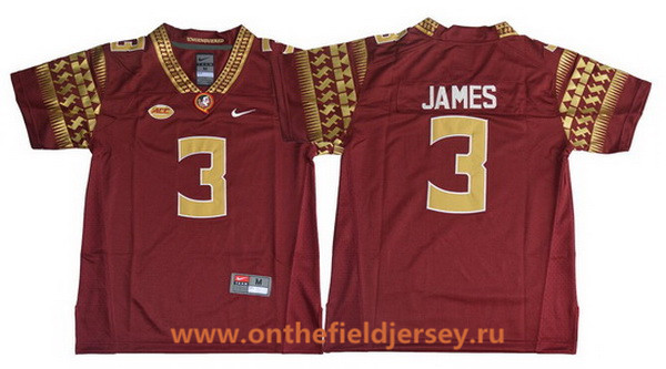 Youth Florida State Seminoles #3 Derwin James Red College Football Stitched Nike NCAA Jersey