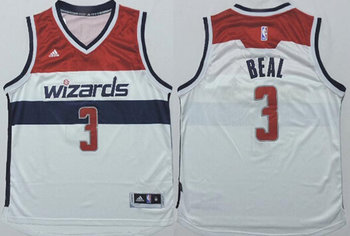 Washington Wizards #3 Bradley Beal Revolution 30 Swingman New White Jersey