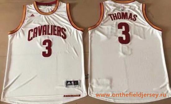Men's Cleveland Cavaliers #3 Isaiah Thomas White Stitched NBA adidas Revolution 30 Swingman Jersey