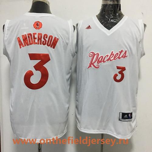Men's Houston Rockets #3 Ryan Anderson adidas White 2016 Christmas Day Stitched NBA Swingman Jersey