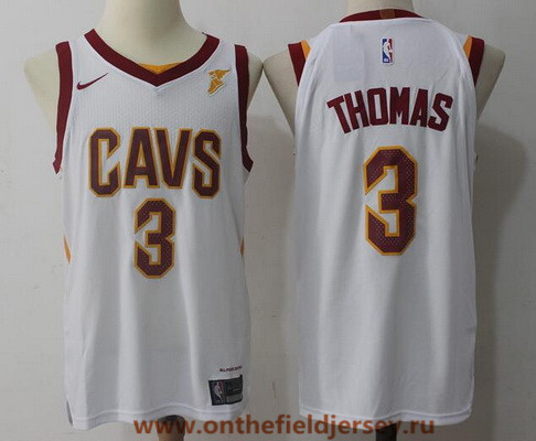 Men's Cleveland Cavaliers #3 Isaiah Thomas White 2017-2018 Nike Swingman Goodyear Stitched NBA Jersey