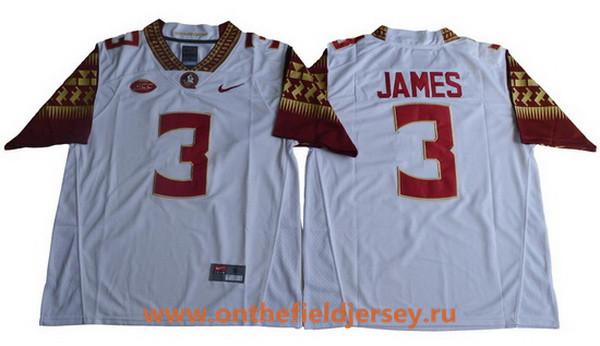 Men's Florida State Seminoles #3 Derwin James White College Football Stitched Nike NCAA Jersey