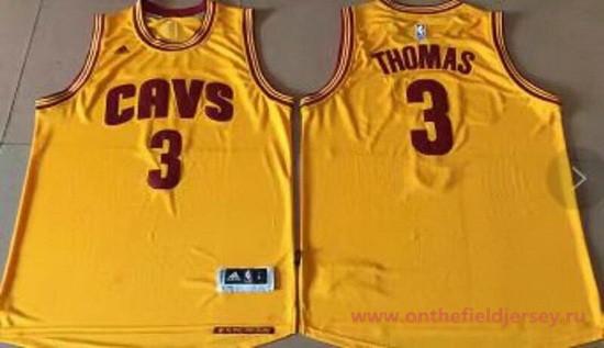 Men's Cleveland Cavaliers #3 Isaiah Thomas Yellow Stitched NBA adidas Revolution 30 Swingman Jersey