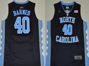 Men's North Carolina Tar Heels #40 Harrison Barnes 2016 Black Swingman College Basketball Jersey