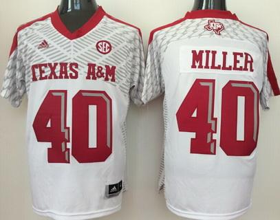 Men's Texas A&M Aggies #40 Ricky Seals-Jones White 2016 College Football adidas Jersey