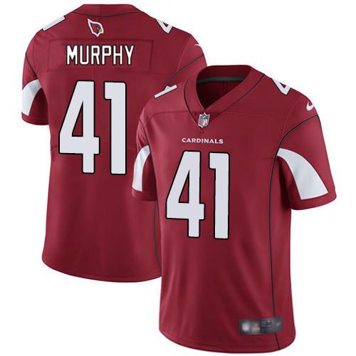 #41 Byron Murphy Red Football Home Men's Jersey Arizona Cardinals Vapor Untouchable