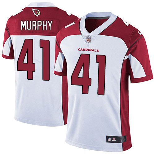 #41 Byron Murphy White Football Road Men's Jersey Arizona Cardinals Vapor Untouchable
