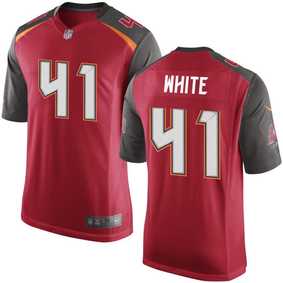 Men's Tampa Bay Buccaneers #41 Devin White Red Stitched NFL Nike Game Jersey