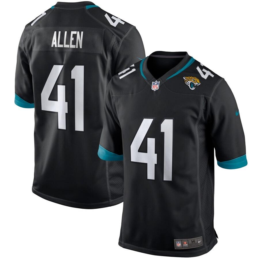 Men's Jacksonville Jaguars #41 Josh Allen Black Stitched NFL Nike Game Jersey