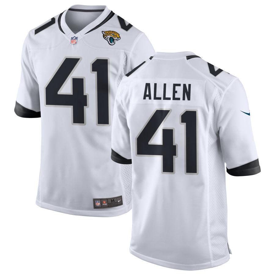 Men's Jacksonville Jaguars #41 Josh Allen White Road Stitched NFL Nike Game Jersey