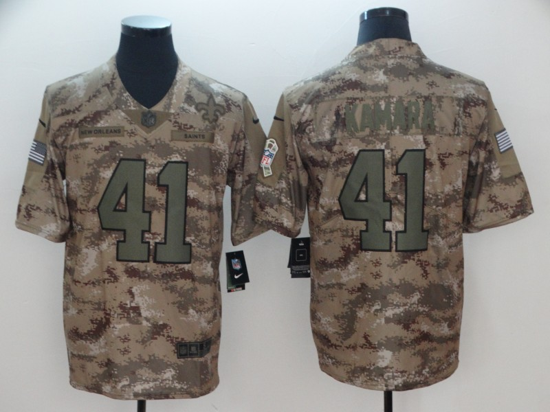 Men's New Orleans Saints #41 Alvin Kamara Nike Camo 2018 Salute to Service Stitched NFL Limited Jersey