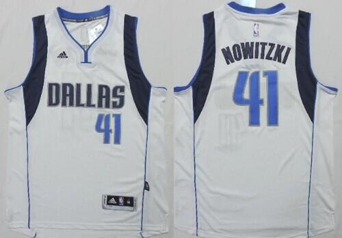 Dallas Mavericks #41 Dirk Nowitzki Revolution 30 Swingman 2014 New White Jersey
