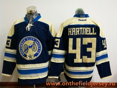 Men's Columbus Blue Jackets #43 Scott Hartnell Royal Blue Third Stitched NHL Reebok Hockey Jersey
