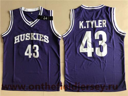 Men's The Movie The 6th Man #43 Kenny Tyler Purple Soul Swingman Basketball Jersey