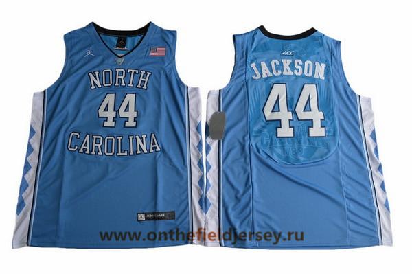 Men's North Carolina Tar Heels #44 Justin Jackson Royal Blue College Basketball 2017 Brand Jordan Swingman Stitched NCAA Jersey
