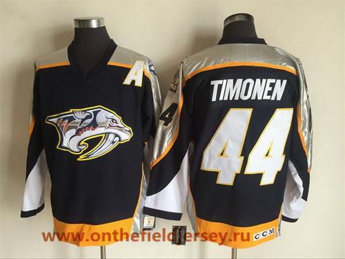 Men's Nashville Predators #44 Kimmo Timonen Navy Blue 1998-99 Throwback Stitched NHL CCM Vintage Hockey Jersey